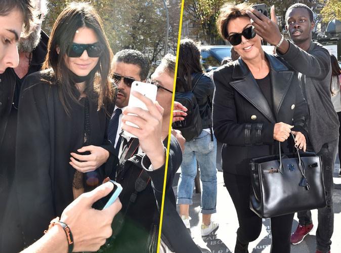 Kendall et Kris Jenner débarquent à Paris, les fans au rendez-vous !