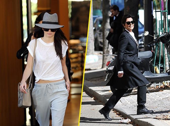 Kendall et Kris Jenner à Paris le 26 septembre 2014