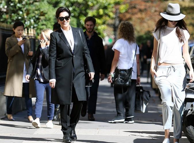 Kris et Kendall Jenner à Paris le 26 septembre 2014