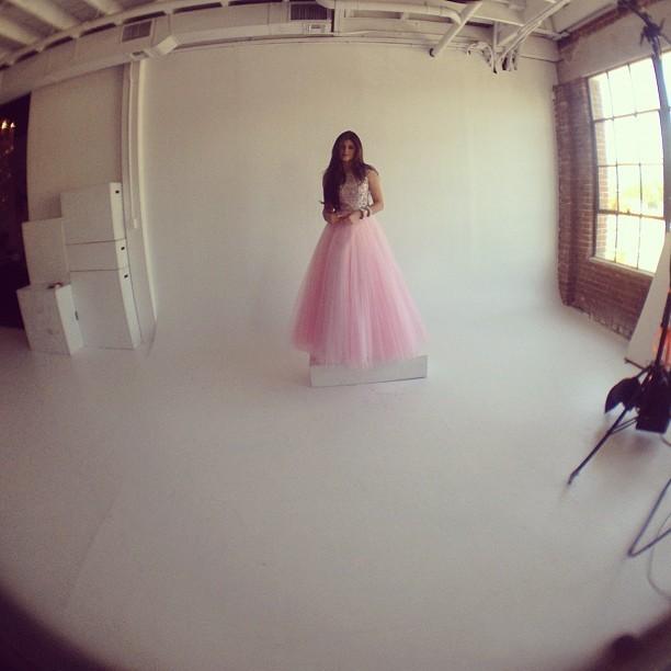 Kylie et sa robe de princesse