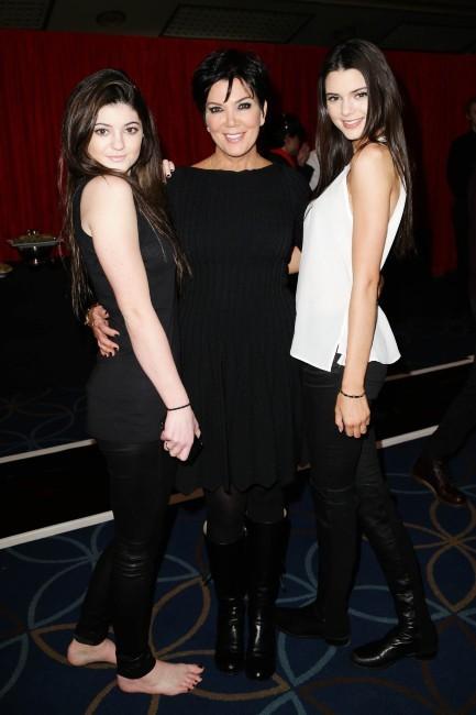 Kendall, Kris et Kylie Jenner le 6 février 2013 à New York