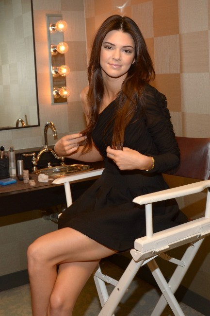 Kendall Jenner dans les loges de l'émission The View à New York, le 7 février 2013.