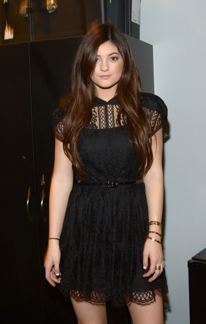 Kylie Jenner dans les loges de l'émission The View à New York, le 7 février 2013.