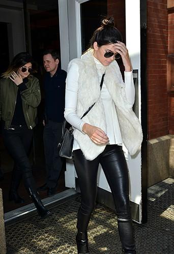 Kendall et Kylie Jenner à New York le 6 mai 2014