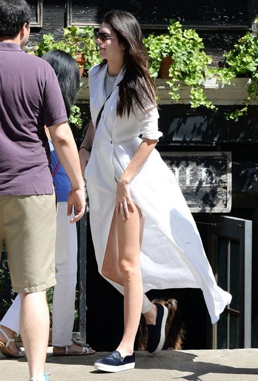 Kendall Jenner à New-York le samedi 30 août 2014