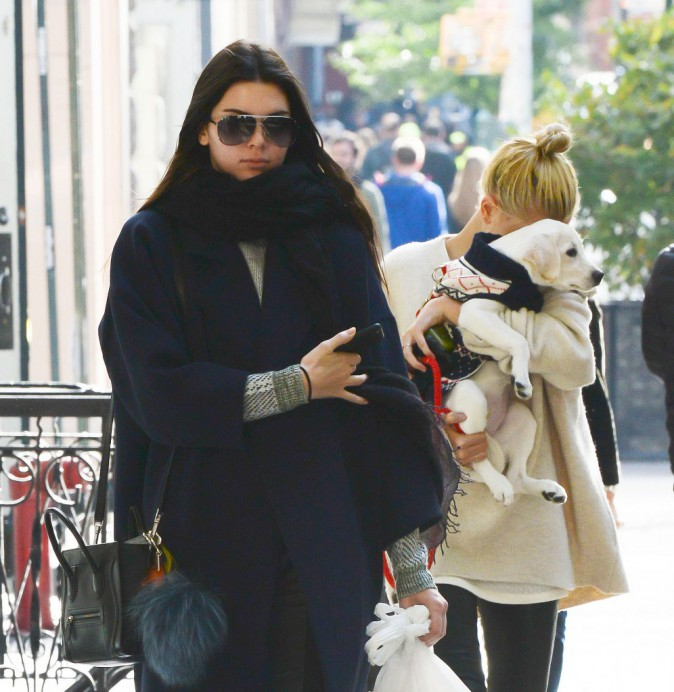 Photos : Kendall Jenner : emmitouflée dans les rues de New York, elle a du chien !