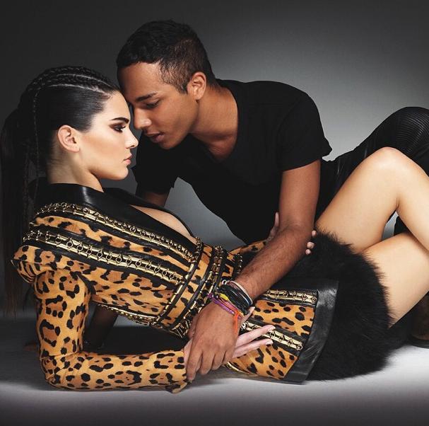 Kendall Jenner et Olivier Rousteing