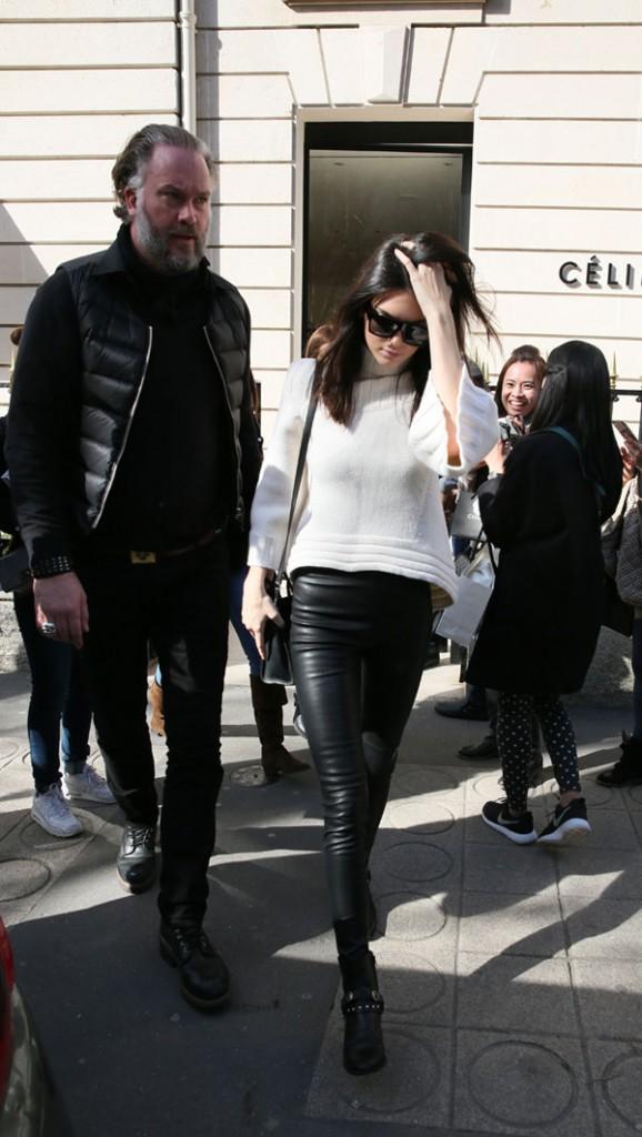 Kendall Jenner à Paris le 6 mars 2015