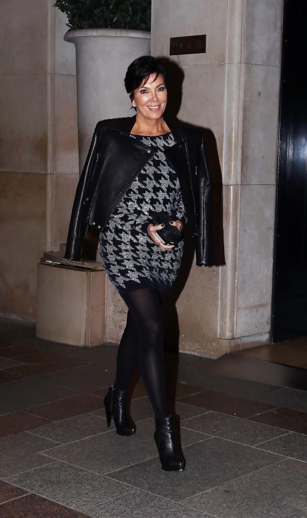 Kris Jenner à Paris le 25 septembre 2014
