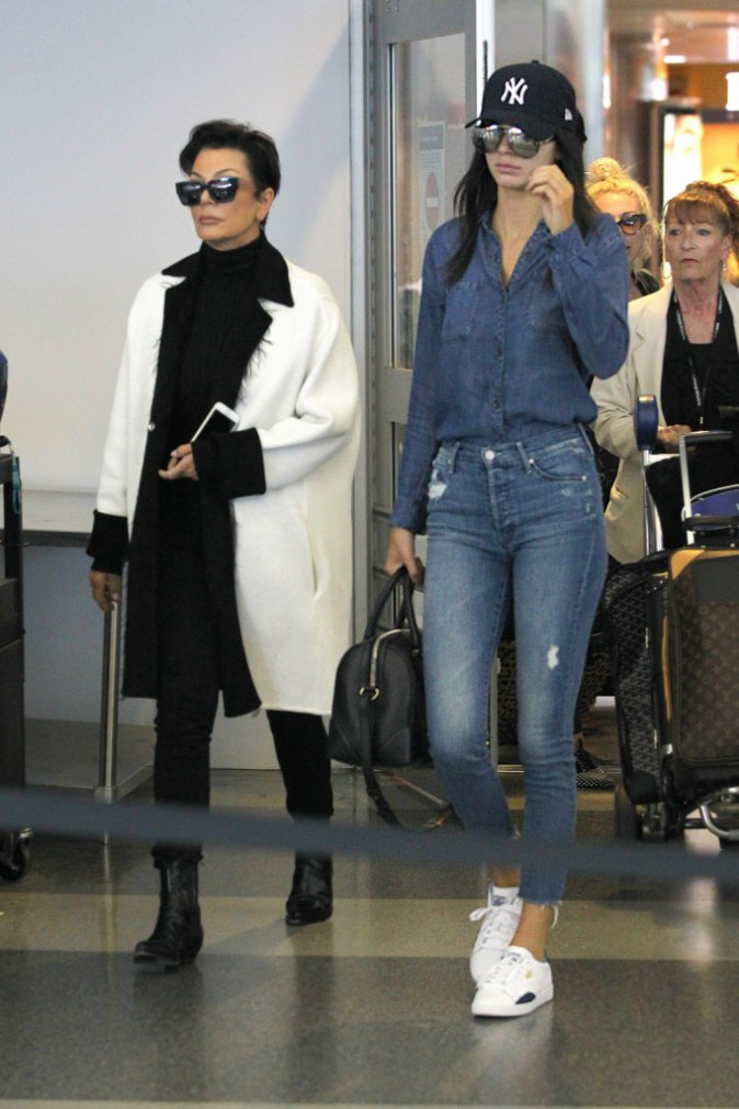 Kris et Kendall Jenner le 3 mai 2015