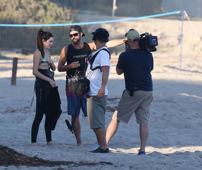 Kendall Jenner avec son grand frère Brody à Malibu le 8 juillet 2013
