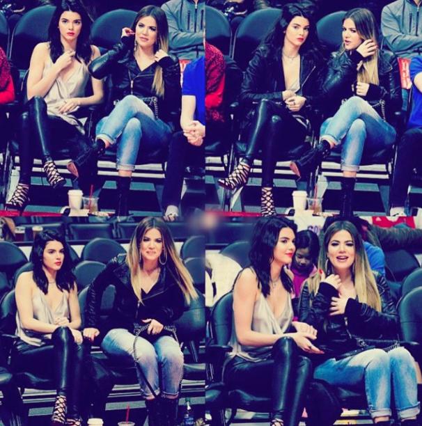 Kendall Jenner et Khloe Kardashian le 10 janvier 2015