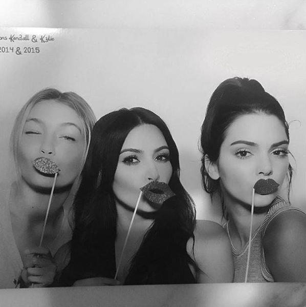 Kendall Jenner, Gigi Hadid et Kim Kardashian le 23 juillet 2015