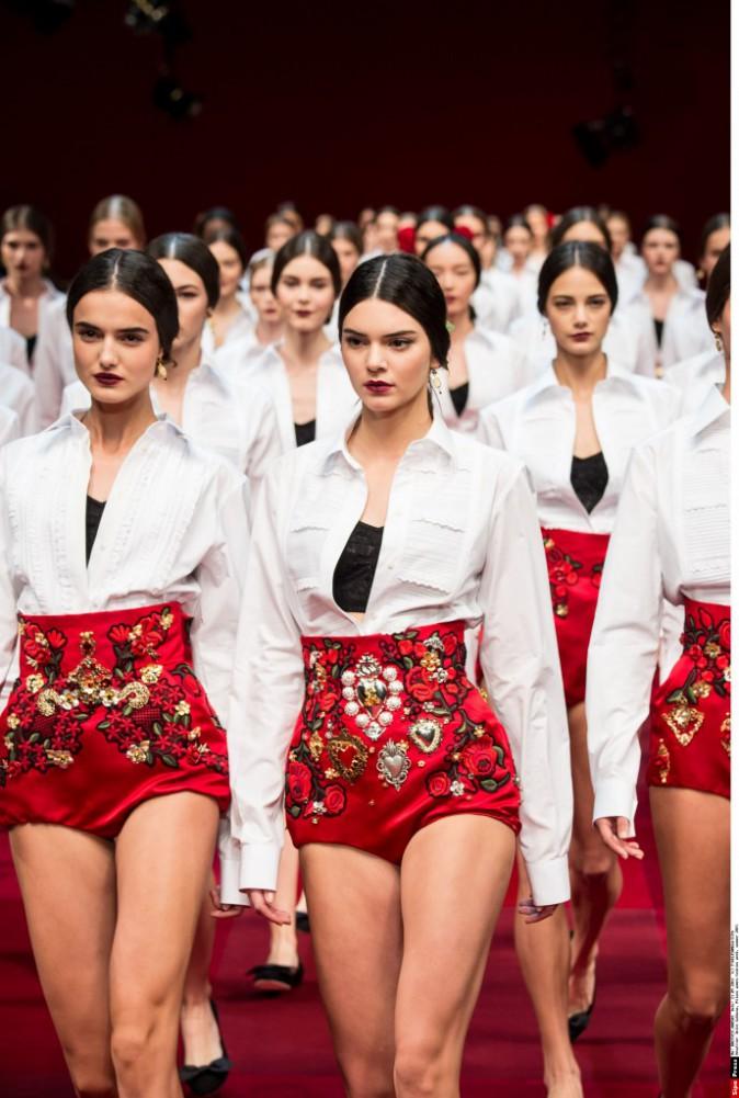 Kendall Jenner pour Dolce & Gabbana le 21 septembre 2014