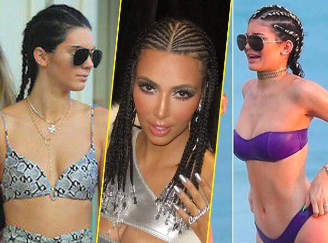 Photos : Kendall, Kim, Kylie et Khloe : Mais qu'est-ce qu'elles ont avec les nattes collées ?