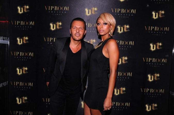 Keri Hilson et Jean-Roch au VIP Room Theater à Paris, le 29 septembre 2011.
