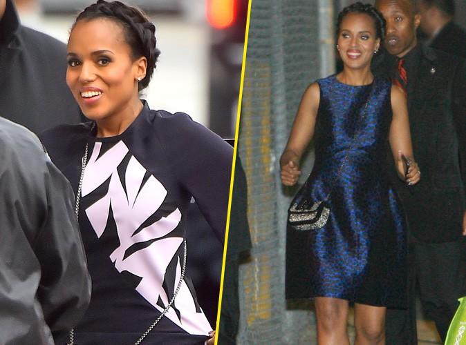 """Kerry Washington : de la version street chic à la version robe de soirée pour promouvoir le retour de """"Scandal"""" !"""