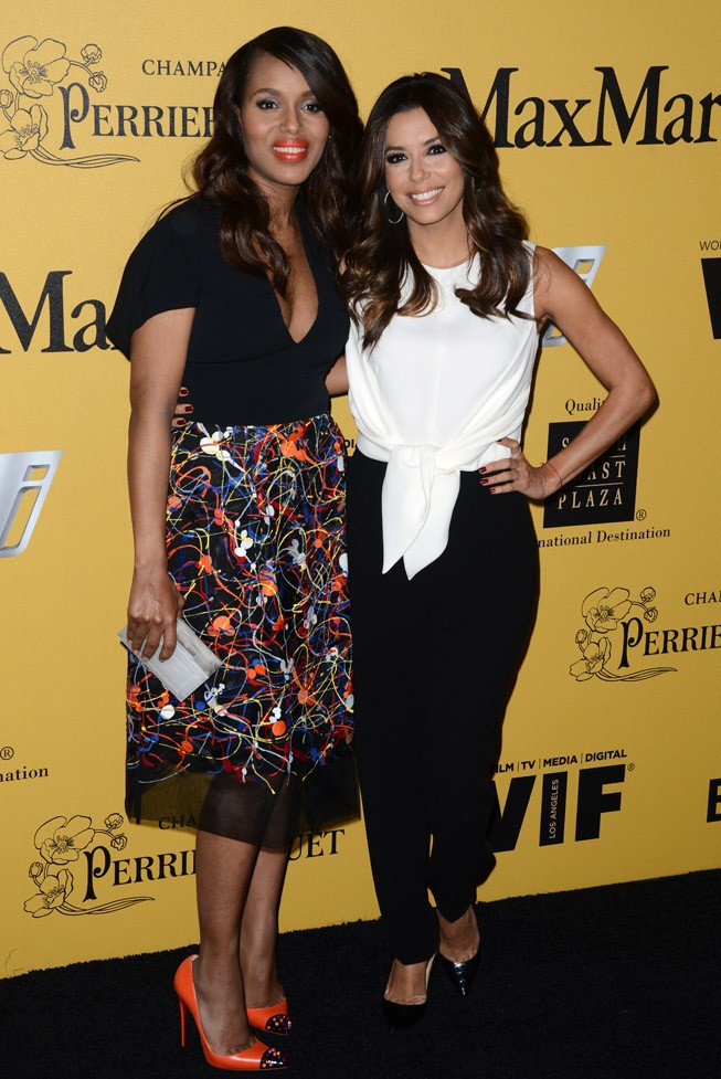 Kerry Washington et Eva Longoria aux Women In Film 2014 Crystal + Lucy Awards organisés à Los Angeles le 11 juin 2014