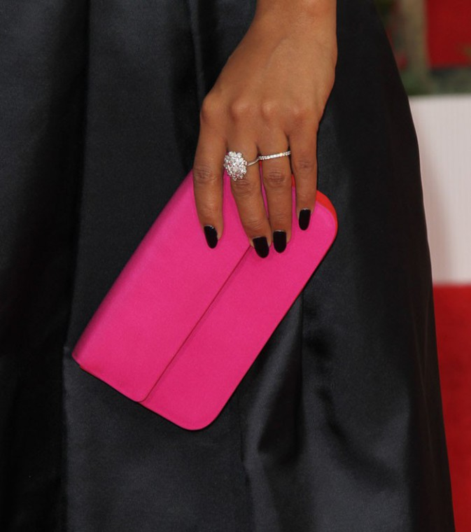 Kerry Washington sur le tapis rouge des Screen Actors Guild Awards, à Los Angeles, le 18 janvier 2014