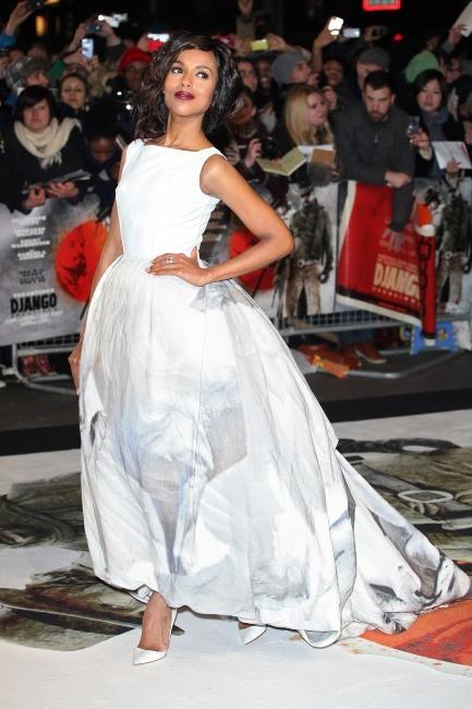 Kerry Washington lors de la première londonienne de Django Unchained, le 10 janvier 2013.