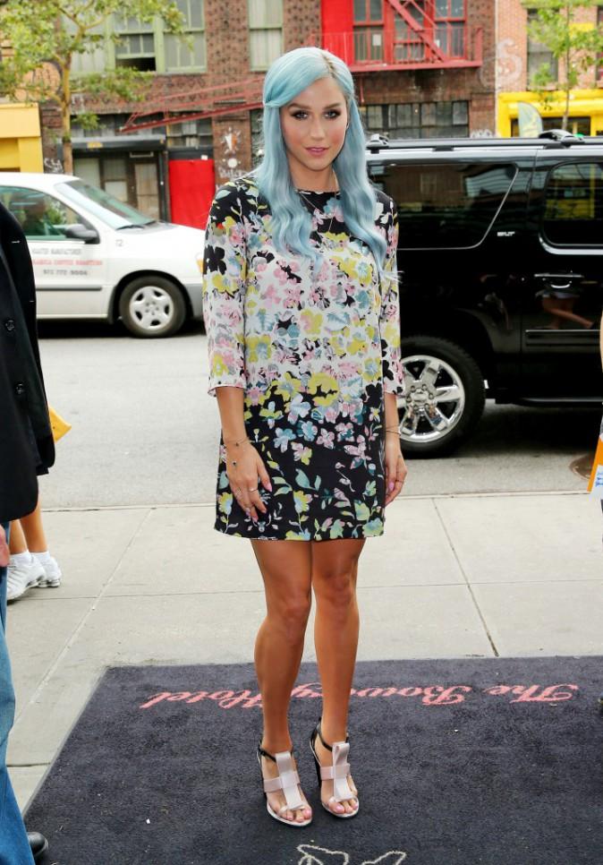 Kesha qui rentre à son hôtel à NYC le 24 juillet 2014 !