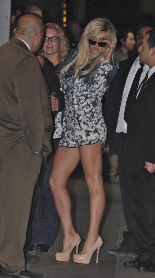 Kesha de passage au Jimmy Kimmel Live à Hollywood le 11 avril 2013