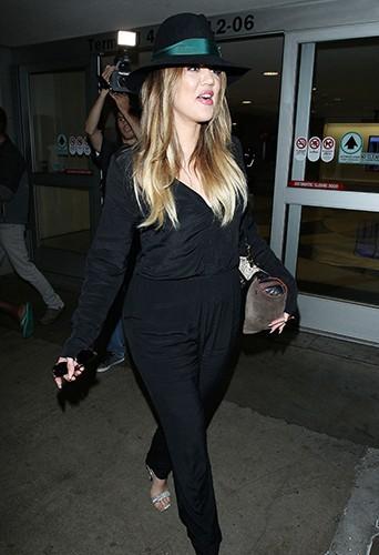 Khloé Kardashian à l'aéroport de Los Angeles le 20 juin 2014