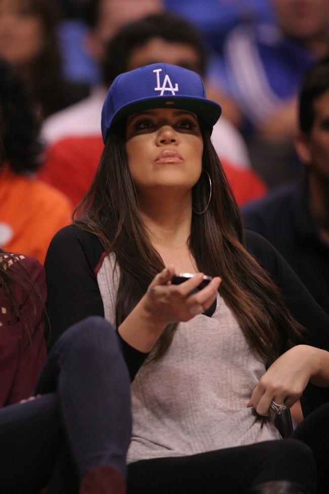 Khloe Kardashian au Stapkes Center de Los Angeles le 17 octobre 2012