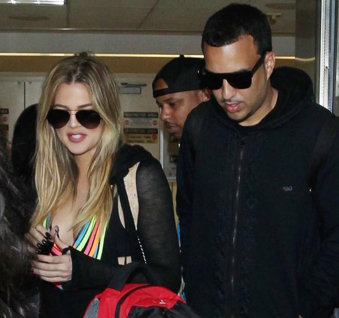Khloé Kardashian avec French Montana à l'aéroport de Los Angeles le 8 mars 2015