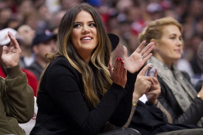 Khloé Kardashian au match des Clippers avec Rob à Los Angeles le 6 mars 2013
