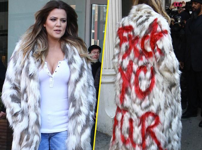 Photos : Khloe Kardashian : drôle de façon de s'engager contre la fourrure !