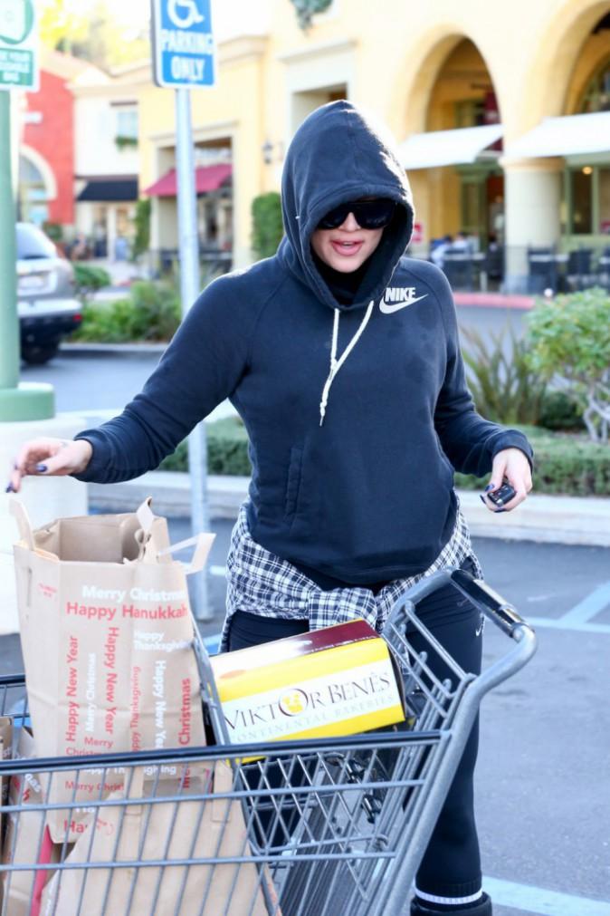 Khloe Kardashian à Los Angeles le 14 décembre 2014
