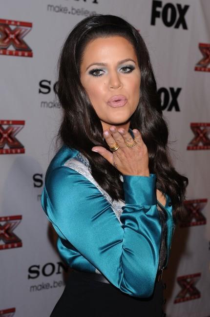 Khloe Kardashian lors de la soirée X-Factor à Los Angeles, le 6 décembre 2012.