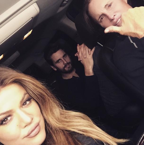 Khloe Kardashian, Scott Disick et Bruce Jenner
