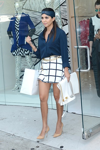 Kourtney Kardashian en promo à Los Angeles, le 19 septembre 2013.
