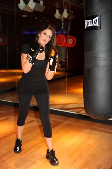 Khloe Kardashian dans la salle de sport David Barton Gym à New York.