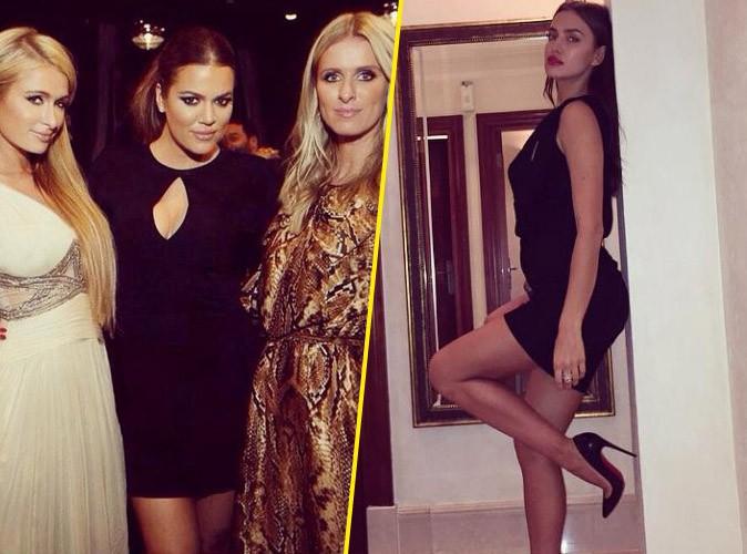 Khloé Kardashian entourée des soeurs Hilton, Irina Shayk bombesque... Une folle soirée à Dubaï !