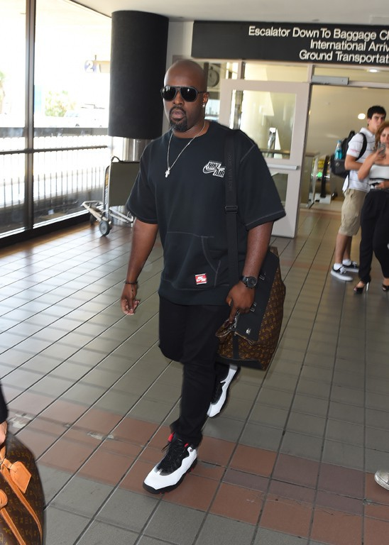 Corey Gamble à l'aéroport de Los Angeles le 5 août 2015