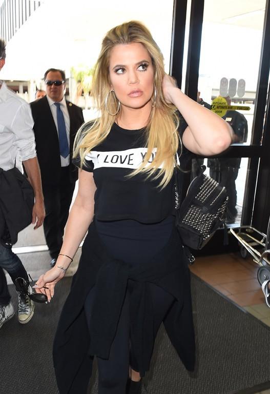 Khloé Kardashian à l'aéroport de Los Angeles le 5 août 2015