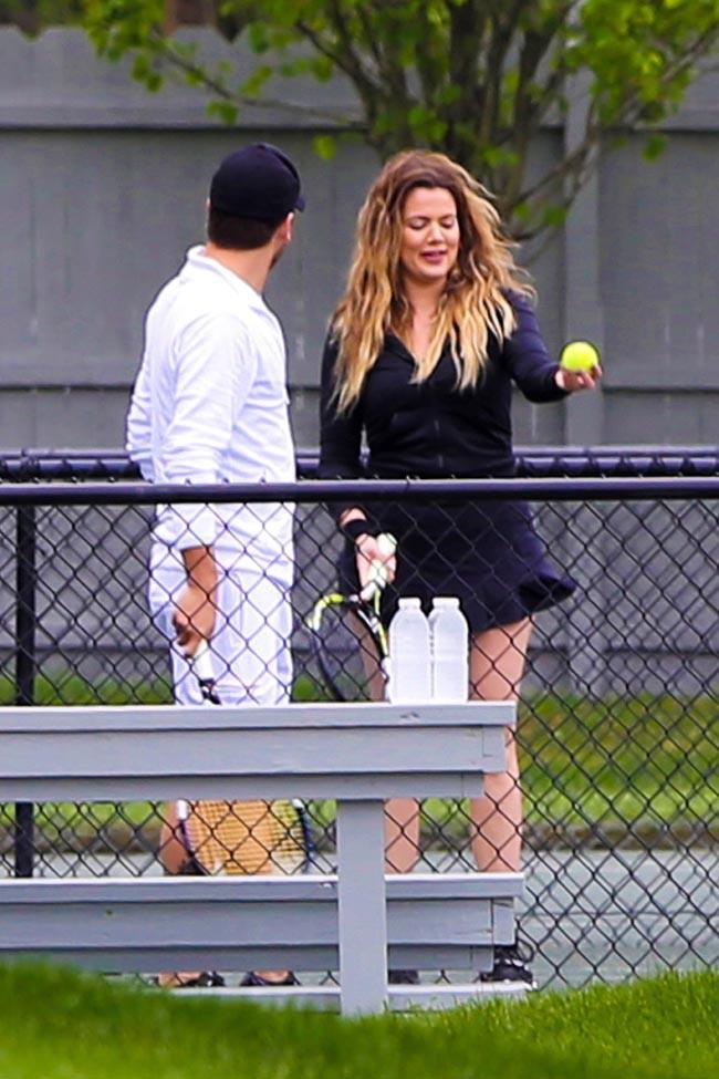 Khloé Kardashian et Scott Disick dans les Hamptons le 12 juin 2014