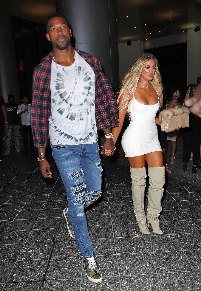 Khloe Kardashian et Tristan Thompson à Miami le 17 septembre 2016