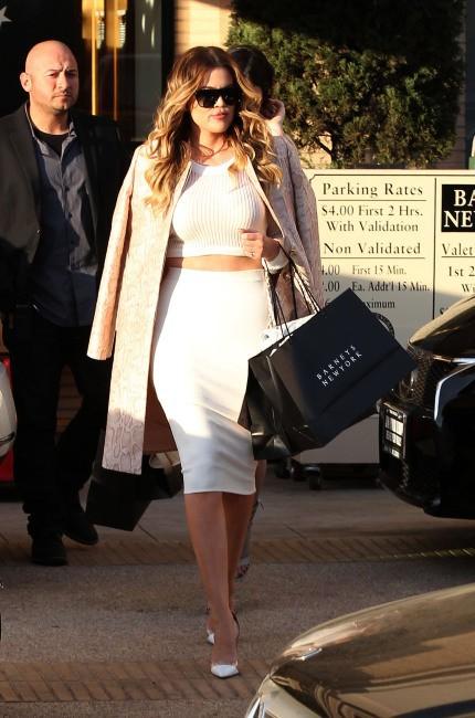 Khloe Kardashian en plein shopping à Beverly Hills, le 19 janvier 2014.