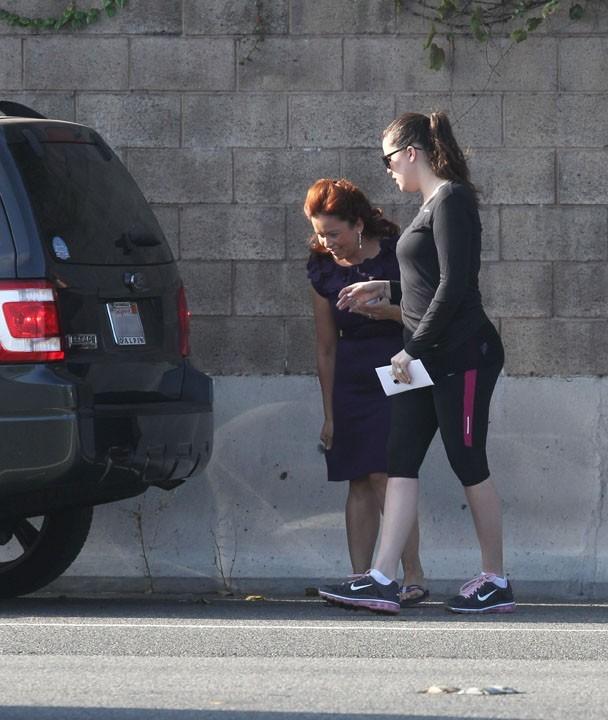 Khloé Kardashian sur l'autoroute 101 de Los Angeles le 22 août 2012