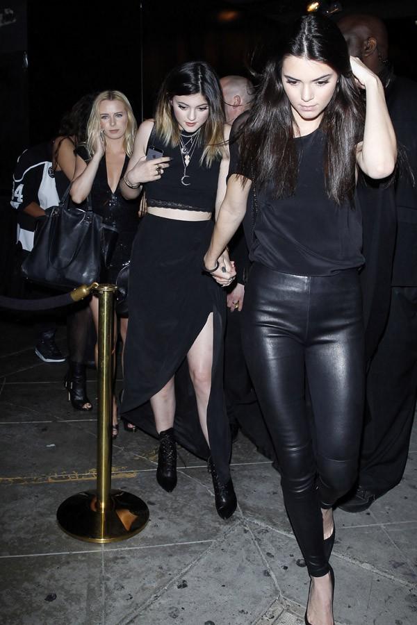 Kylie et Kendall Jenner à la soirée d'anniversaire de Christian Combs organisée le 4 avril 2014 à Los Angeles