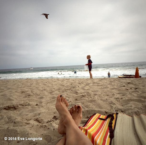 Eva Longoria à la plage !