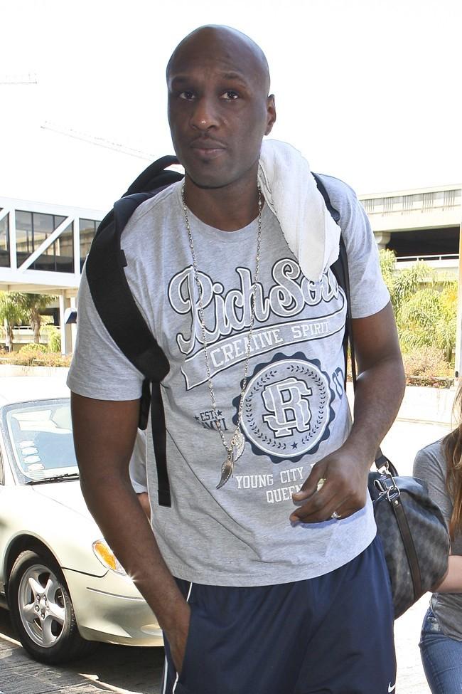 Lamar Odom le 17 juillet 2012 à Los Angeles