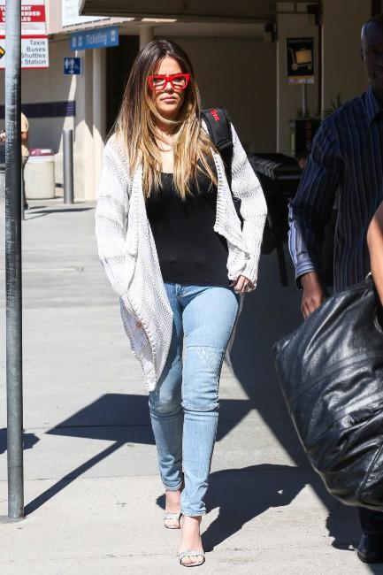 Khloe Kardashian à l'aéroport de Burbank, le 8 août 2013.