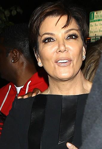 Kris Jenner à Los Angeles le 10 février 2014