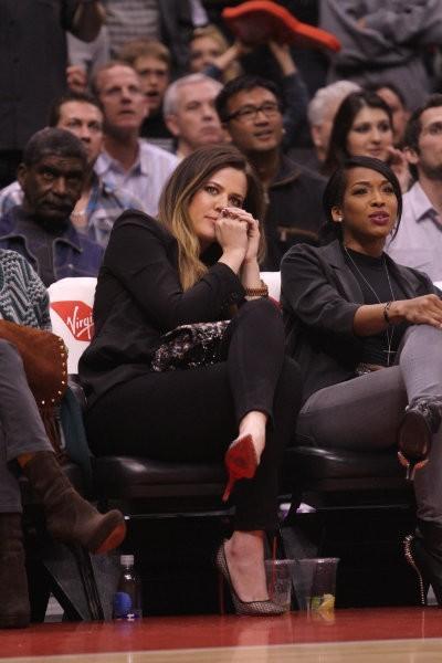 Khloe Kardashian lors d'un match de basket à Los Angeles, le 1er avril 2013.