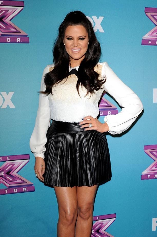 Khloe Kardashian sur le tapis rouge de la grande finale d'X Factor à Los Angeles le 19 décembre 2012